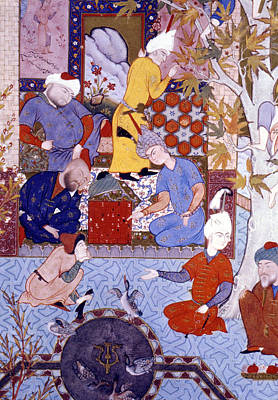 Chess Men Painting - Chess Players, 1556-65 by Granger