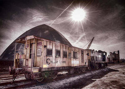 Caboose Photograph - Chessie System Caboose by Jim Pearson