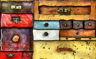 Chest Of Drawers Art Print by Michal Boubin