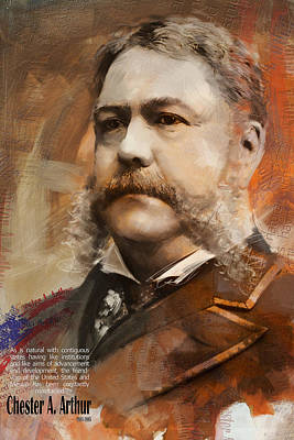 Cleveland Painting - Chester A. Arthur by Corporate Art Task Force