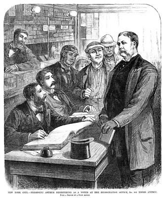Chester Alan Arthur (1830-1886) Art Print by Granger