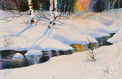Chester Creek Shadows Art Print by Teresa Ascone
