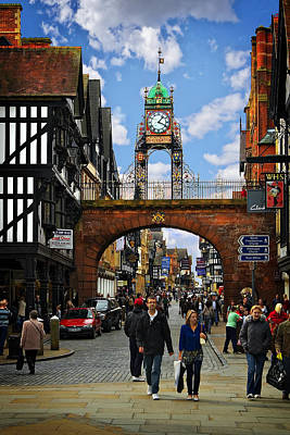 Photograph - Chester Eastgate Clock by Meirion Matthias