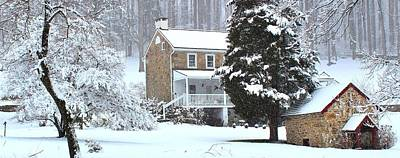 Winter Photograph - Chester Springs Snowstorm by Stephen Hobbs
