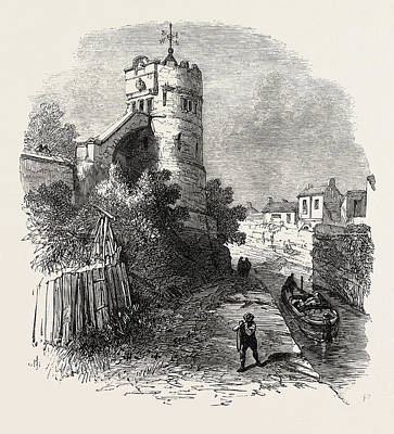 Phoenix Drawing - Chester The Phoenix Tower On The City Walls by English School