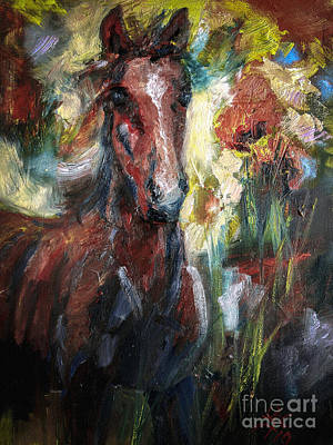 Painting - Chestnut Foal by Ginette Callaway