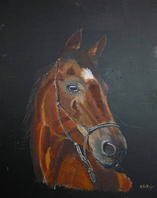 Painting - Chestnut Horse by Richard Le Page