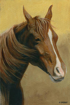 Caskey Wall Art - Painting - Chestnut Mare by Bethany Caskey