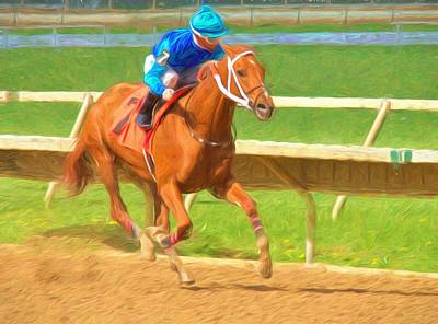 Photograph - Chestnut Racing by Alice Gipson