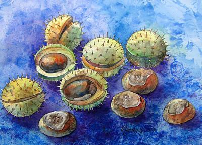 Graphics Painting - Chestnuts by Khromykh Natalia