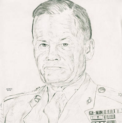 Chesty Puller Art Print by Dennis Larson