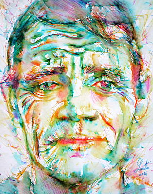 Painting - Chet Baker - Portrait by Fabrizio Cassetta