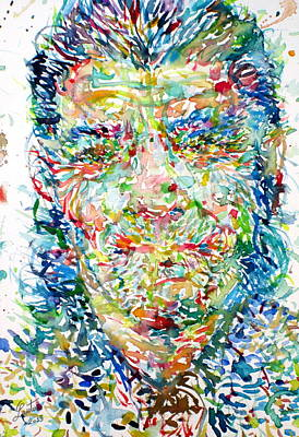 Painting - Chet Baker - Watercolor Portrait by Fabrizio Cassetta
