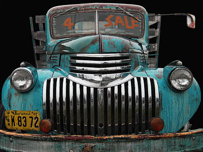 Photograph - Chev For Sale - 1942 Aqua by Larry Hunter