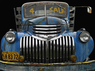 Photograph - Chev For Sale - 1942 Blue by Larry Hunter