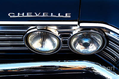 Chevelle Headlight Art Print by Jerry Fornarotto