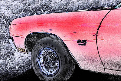 Photograph - Chevelle Ss 356 by Michael Porchik