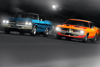 Photograph - Chevelle Vs 'cuda by Gordon Dean II
