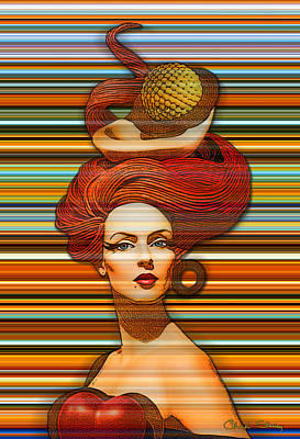 Photograph - Cheveux Rouges Extract by Chuck Staley