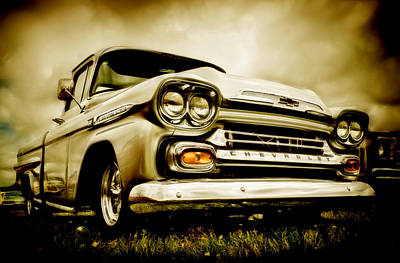 Chev Pickup Photograph - Chevrolet Apache Pickup by motography aka Phil Clark