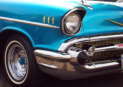 Little Mosters - Chevrolet Bel Air in Blue and Gold - American Muscle by Amy McDaniel