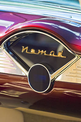Red Chevrolet Photograph - Chevrolet Belair Nomad Dashboard by Jill Reger