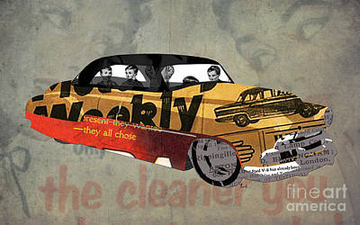 Chevrolet Belair 1951 And The Weekly News Art Print by Pablo Franchi