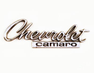 Chevrolet Camaro Emblem Art Print by Jerry Fornarotto