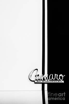 Chevrolet Trunk Photograph - Chevrolet Camaro Monochrome by Tim Gainey