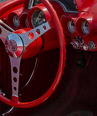 Photograph - Chevrolet Corvette Red 1962 by Susan Candelario