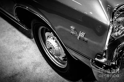 Chevrolet Chevelle 396 Black And White Picture Art Print by Paul Velgos