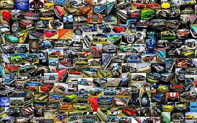 Chevrolet Collage Art Print