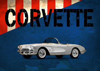 1958 Photograph - Chevrolet Corvette 1958 by Mark Rogan