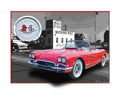 Chevrolet Corvette 1962 Art Print by Dan Knowler