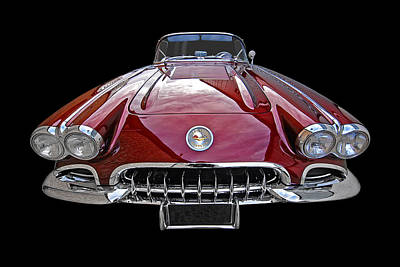 Photograph - Chevrolet Corvette C1 1958 Head On by Gill Billington