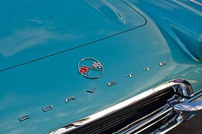 Chevrolet Corvette Hood Emblem 2 Art Print by Jill Reger
