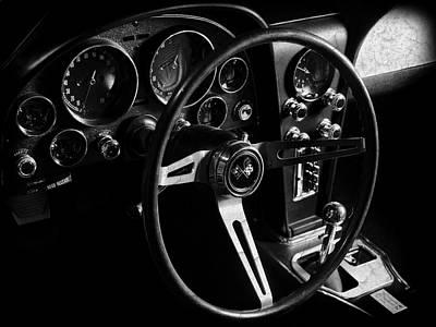 Sting Photograph - Chevrolet Corvette Sting Ray Interior by Mark Rogan