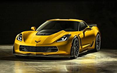 Chevrolet Corvette Z06  Art Print by Movie Poster Prints