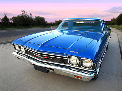 Photograph - Chevrolet El Camino At Sunset by Gill Billington