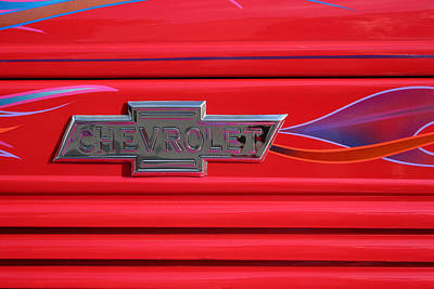 Chevrolet Emblem Art Print by Carol Leigh