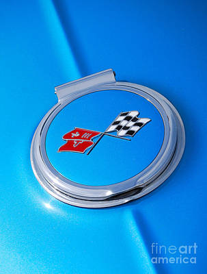 Photograph - Chevrolet Gas Cap by Mark Spearman