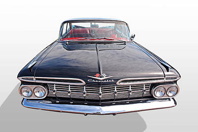 Photograph - Chevrolet Impala 1959 Front by Gill Billington