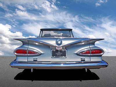 Photograph - Chevrolet Impala 1959 Shining In The Light by Gill Billington