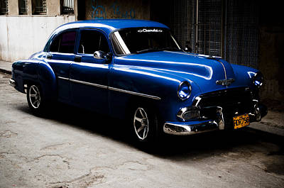 Chevrolet In Havana Art Print by Dan  Grover