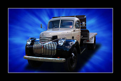 Print featuring the photograph Chevrolet Maple Leaf Truck by Keith Hawley