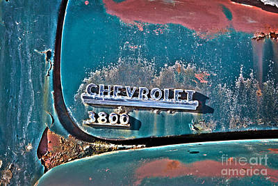 Photograph - Chevrolet Name Badge by Alana Ranney