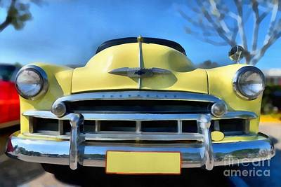Car Mascot Painting - 1951 Chevrolet Skyline by George Atsametakis