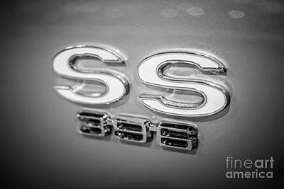 Chevrolet Ss 396 Emblem Art Print by Paul Velgos