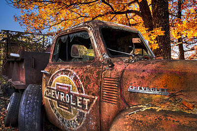 Chevrolet Usa Art Print by Debra and Dave Vanderlaan