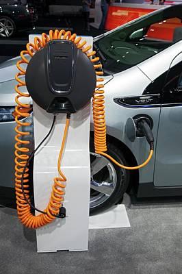 Green. 2012 Photograph - Chevrolet Volt Electric Car by Jim West
